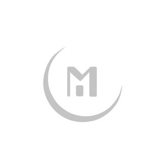 Halskette - Rindleder, Mond - schwarz / silber