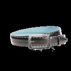 Gürtel Felina 3278 - 35 mm - Rindleder, glatt - schwarz & blau / Metall - silber