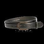 Gürtel Beppe 3182 - 35 mm - Rindleder, glatt - schwarz / Metall - gold