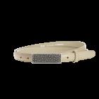 Gürtel Borelli 3011 - 20 mm - Rindleder, glatt - beige / Metall - silber