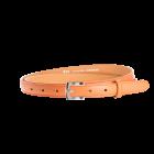 Gürtel Borelli II 3047 - 20 mm - Rindleder, glatt - orange / Metall - silber