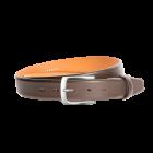 Gürtel Malente II 3081 - 35 mm - Rindleder, Saffiano - dunkelbraun / Metall - anthrazit