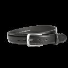 Gürtel Beppe 3081 - 35 mm - Rindleder, glatt - schwarz / Metall - anthrazit