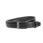 Gürtel Paulani 3159 - 35 mm - Rindleder, glatt - schwarz / Metall - anthrazit