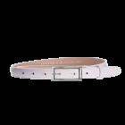 Gürtel Borelli III 3049  - 20 mm - Rindleder, glatt - weiß / Metall - silber