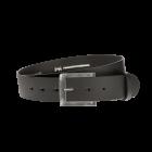 Gürtel Base II 3151 - 40 mm - Rindleder, glatt - schwarz / Metall - silber