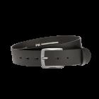 Gürtel Base II 3161 - 40 mm - Rindleder, glatt - schwarz / Metall - silber