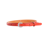 Gürtel Mirinda 3193 - 15 mm - Rindleder, leicht genarbt - rot / Metall - silber