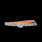 Gürtel Sylvie 3193 - 15 mm - Rindleder - silber / Metall - silber