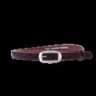 Gürtel Virginia 3201 - 20 mm - Rindleder, strukturiert - dunkelbraun / Metall - silber