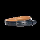 Gürtel Bellino 3015 - 30 mm - Rindleder, glatt - blau / Metall - anthrazit
