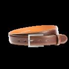 Gürtel Beppe 3083 - 35 mm - Rindleder, glatt - mittelbraun / Metall - silber