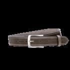 Gürtel Santos 3081 - 35 mm - Rindleder, glatt - graubraun / Metall - anthrazit