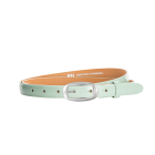 Gürtel Loano II 3201 - 20 mm - Rindleder, Lack - hellgrün / Metall - silber