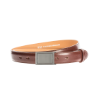 Gürtel Bellino 3179 - 30 mm - Rindleder, glatt - braun / Metall - anthrazit