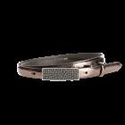 Gürtel Plated 3011 - 20 mm - Rindleder, Crackle - bronze / Metall - silber