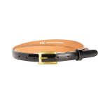 Gürtel Loano 3204 - 20 mm - Rindleder, Lackoptik - schwarz / Metall - gold
