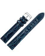 Marburger M139 Uhrenarmband Krokoprägung blau