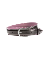 Gürtel Felina 3257 - 35 mm - Rindleder, glatt - schwarz & pink / Metall - silber