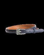 Gürtel Borelli I 3055 - 20 mm - Rindleder, glatt - dunkelblau / Metall - silber