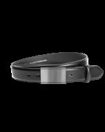 Gürtel Beppe 3094 - 35 mm - Rindleder, glatt - schwarz / Metall - silber