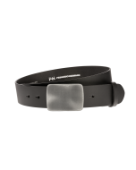Gürtel Base II 3019 - 40 mm - Rindleder, glatt - schwarz / Metall - silber