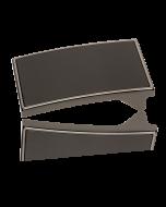 Gürtelschnalle Heros - anthrazit poliert - 35 mm