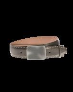 Gürtel Granada 3019 - 40 mm - Rindleder, glatt - grau / Metall - silber