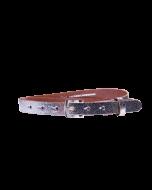Gürtel Plated 3047 - 20 mm - Rindleder, metallic - silber / Metall - silber