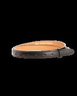 Gürtelriemen - Rindleder, glatt - schwarz - 20 mm
