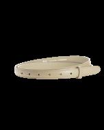 Gürtelriemen - Rindleder, glatt - beige - 20 mm