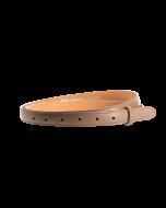 Gürtelriemen - Rindleder, glatt - taupe - 20 mm