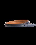 Gürtelriemen - Rindleder, glatt - dunkelblau - 20 mm