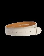 Gürtelriemen - Rindleder, glatt - weiß - 40 mm
