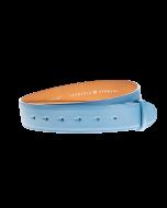 Gürtelriemen - Rindleder, glatt - hellblau - 40 mm
