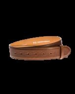 Gürtelriemen - Rindleder, glatt - braun - 40 mm