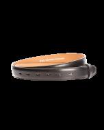 Gürtelriemen - Rindleder, glatt - schwarz - 30 mm