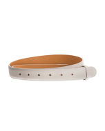 Gürtelriemen - Rindleder, glatt - weiß - 30 mm