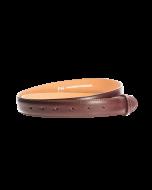 Gürtelriemen - Rindleder, glatt - rotbraun - 30 mm