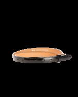 Gürtelriemen - Rindleder, Lack - schwarz - 20 mm