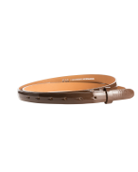 Gürtelriemen - Rindleder, Lack - braun - 20 mm