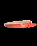 Gürtelriemen - Rindleder, Lack - koralle - 20 mm