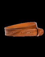 Gürtelriemen - Rindleder, genarbt - mittelbraun - 40 mm