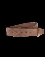 Gürtelriemen - Rindleder, genarbt - dunkelbraun - 40 mm