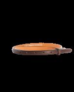 Gürtelriemen - Rindleder, genarbt - dunkelbraun - 15 mm