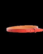 Gürtelriemen - Rindleder, genarbt - rot - 15 mm