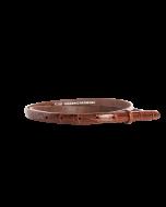 Gürtelriemen - Rindleder, genarbt - mittelbraun - 15 mm
