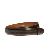 Gürtelriemen - Rindleder, glatt - dunkelbraun - 40 mm