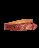 Gürtelriemen - Rindleder, Perlrochenprägung - rot - 40 mm