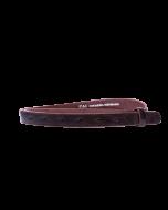 Gürtelriemen - Rindleder, strukturiert - dunkelbraun - 20 mm